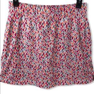 Maggie Lane Tennis Skort Skirt Sz 10 Abstract leaf